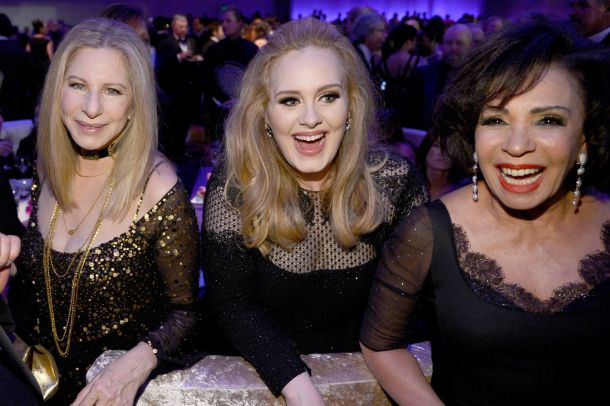 What a crew: With Barbra Streisand and Shirley Bassey