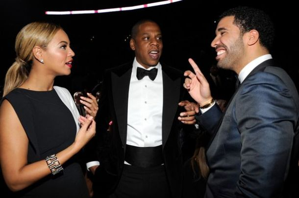 Having a conversation with Drake and hubby Jay-Z
