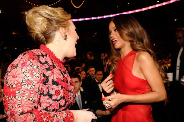 Having a laugh with Rihanna