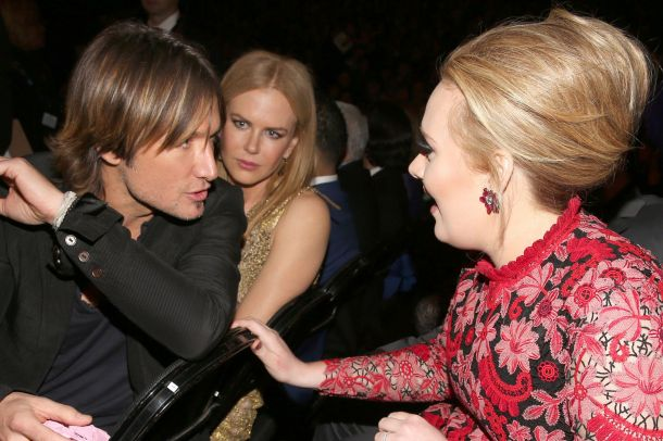 With Keith Urban and Nicole Kidman