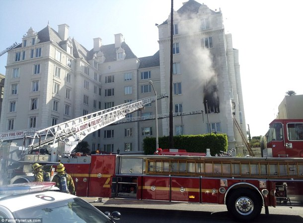 Her apartment in Granville Towers goes up in smoke.