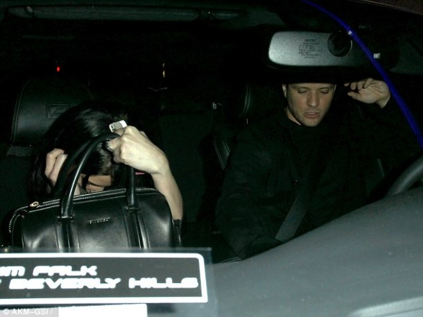 Ashley was seen leaving a club with Ryan Phillippe the night before.