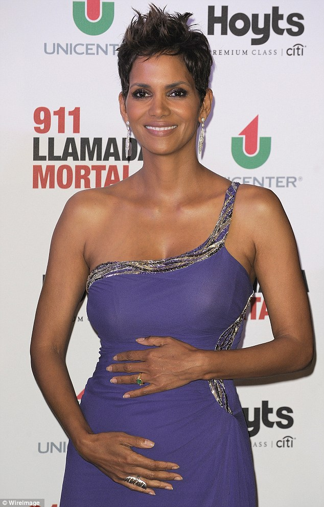 Halle Berry is pregnant and starred in the movie X-Men 04/23/2013 22