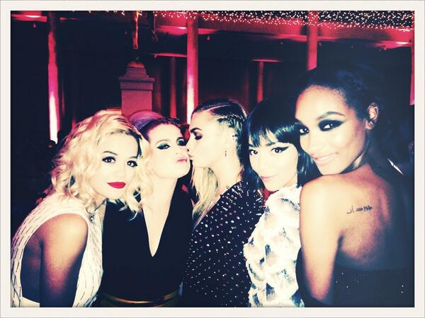 L-R: Rita Ora, Kelly Osbourne, Cara, Ashley Madekwe & Jourdan Dunn