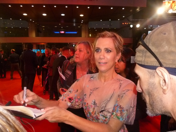 Kristen Wiig looking terrifed